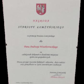 Certyfikat Starosty